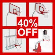 バスケットボールリムコレクション 3d model