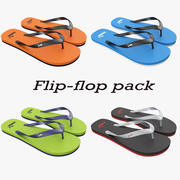 Puma flip-flop pack 3d model