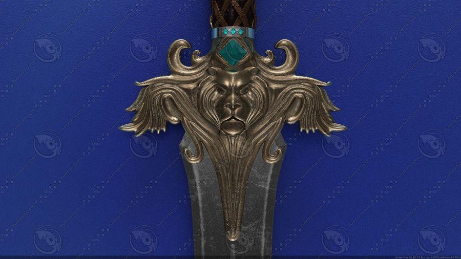 Espada de fantasía royalty-free modelo 3d - Preview no. 5