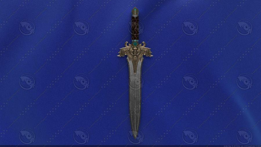 Espada de fantasía royalty-free modelo 3d - Preview no. 3