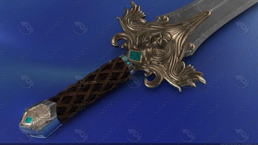 Espada de fantasía royalty-free modelo 3d - Preview no. 2