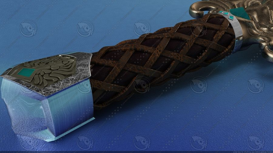Espada de fantasía royalty-free modelo 3d - Preview no. 6