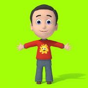 Cartoon Boy Character 3d model