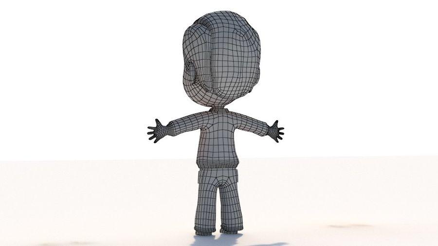 만화 소년 캐릭터 royalty-free 3d model - Preview no. 9