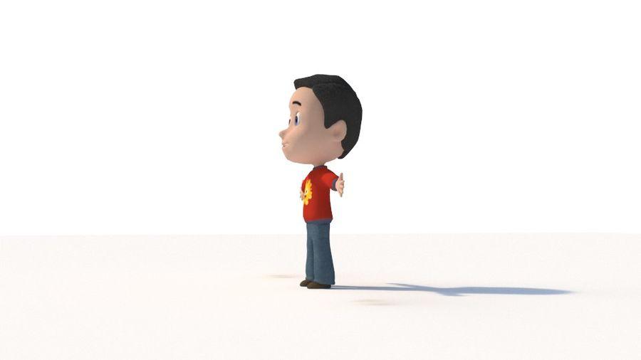 만화 소년 캐릭터 royalty-free 3d model - Preview no. 6