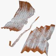Corrugated Metal Sheets Bent 3d model