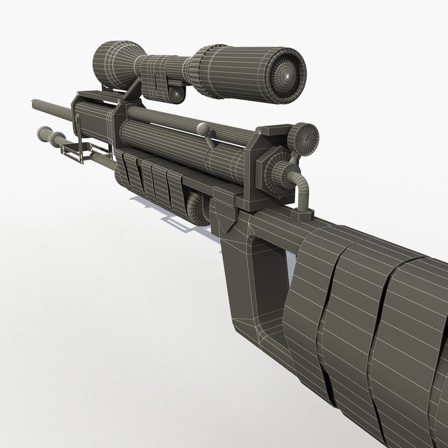 Post Apocalyptic PCP Rifle royalty-free 3d model - Preview no. 10