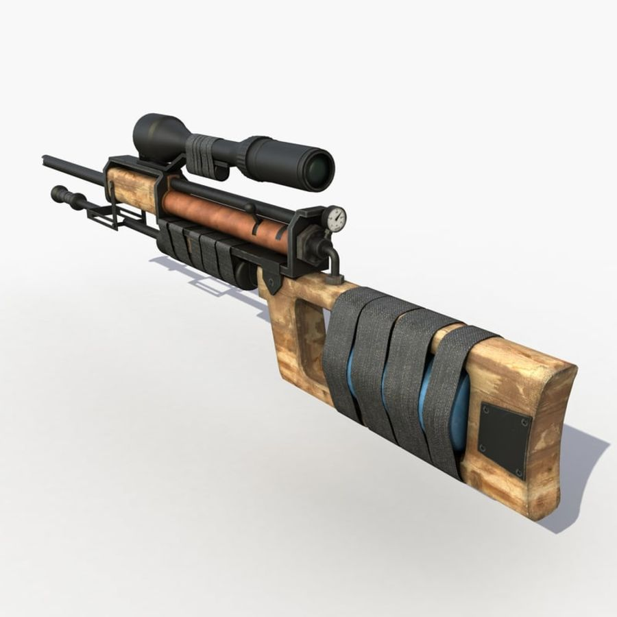 Post Apocalyptic PCP Rifle royalty-free 3d model - Preview no. 2