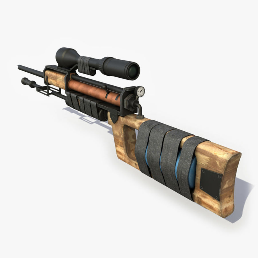 Post Apocalyptic PCP Rifle royalty-free 3d model - Preview no. 1