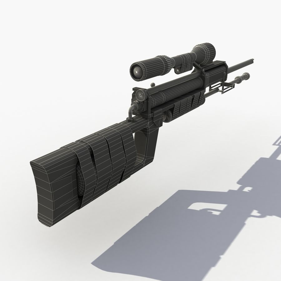 Post Apocalyptic PCP Rifle royalty-free 3d model - Preview no. 8