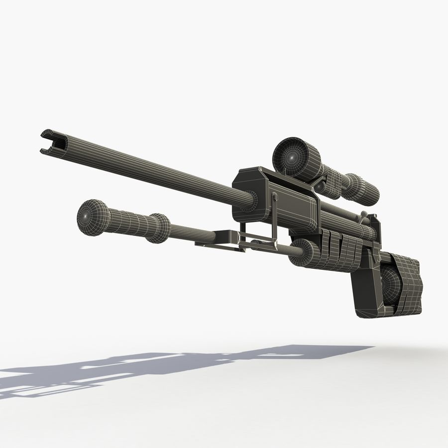 Post Apocalyptic PCP Rifle royalty-free 3d model - Preview no. 9