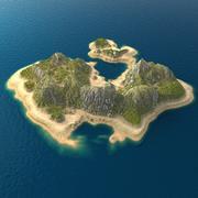 Tropical Island Terrain 8 3d model