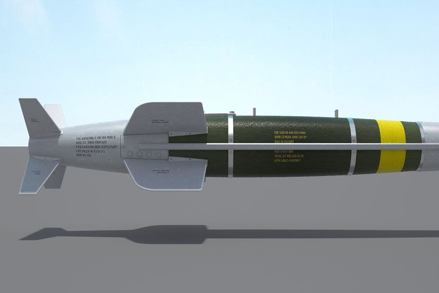 Spice-2000 Guided Bomb royalty-free 3d model - Preview no. 19