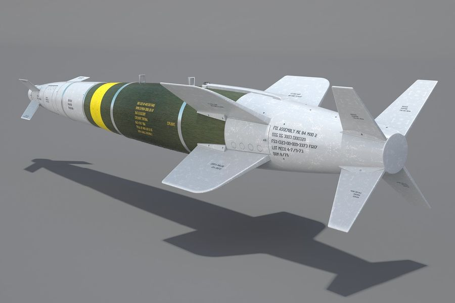 Spice-2000 Guided Bomb royalty-free 3d model - Preview no. 9