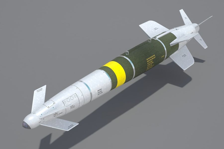 Spice-2000 Guided Bomb royalty-free 3d model - Preview no. 3
