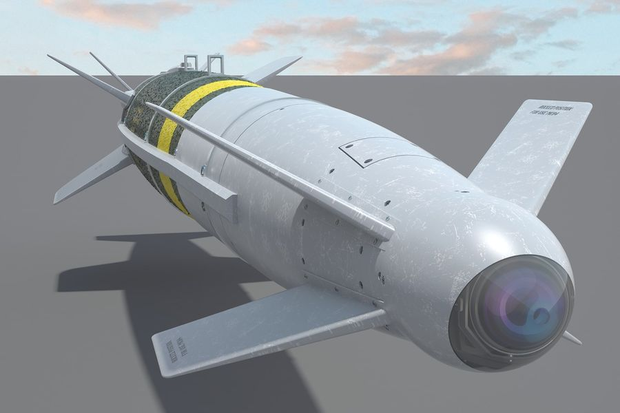 Spice-2000 Guided Bomb royalty-free 3d model - Preview no. 7