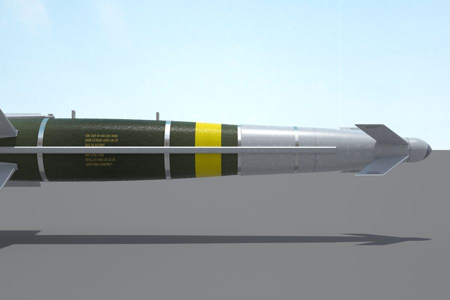 Spice-2000 Guided Bomb royalty-free 3d model - Preview no. 17