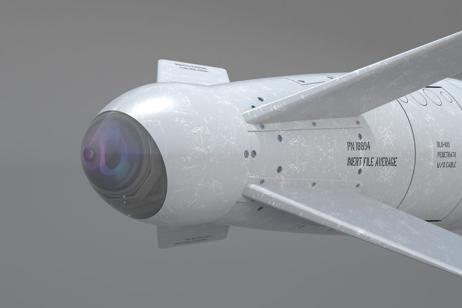 Spice-2000 Guided Bomb royalty-free 3d model - Preview no. 21