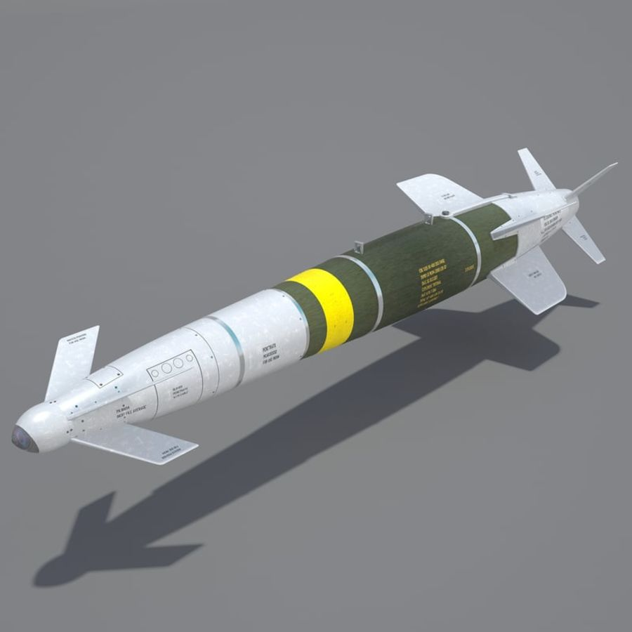 Spice-2000 Guided Bomb royalty-free 3d model - Preview no. 2