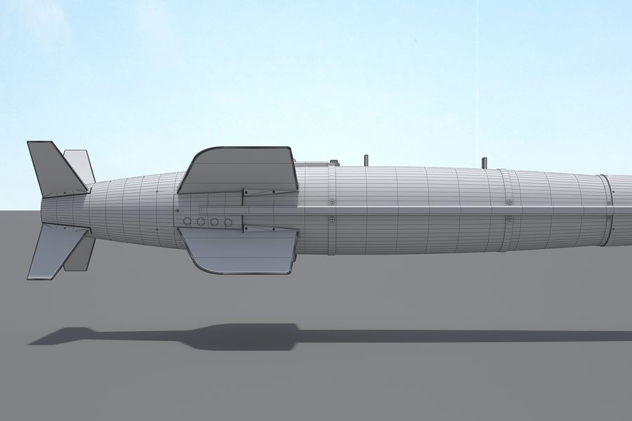 Spice-2000 Guided Bomb royalty-free 3d model - Preview no. 20