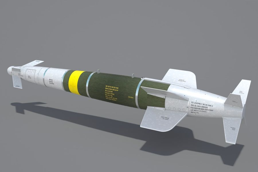 Spice-2000 Guided Bomb royalty-free 3d model - Preview no. 4