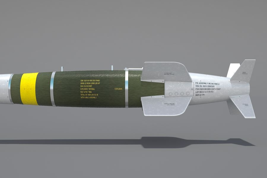 Spice-2000 Guided Bomb royalty-free 3d model - Preview no. 15
