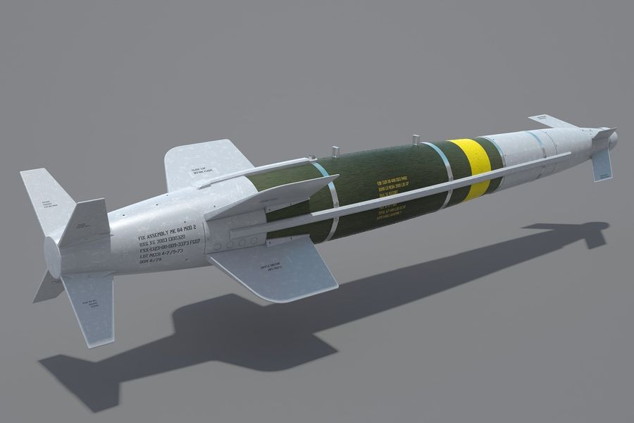 Spice-2000 Guided Bomb royalty-free 3d model - Preview no. 6