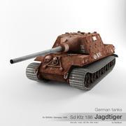 German tank Sd Kfz 186 Jagdtiger Nr 305054 3d model