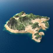 Tropical Island Terrain 9 3d model