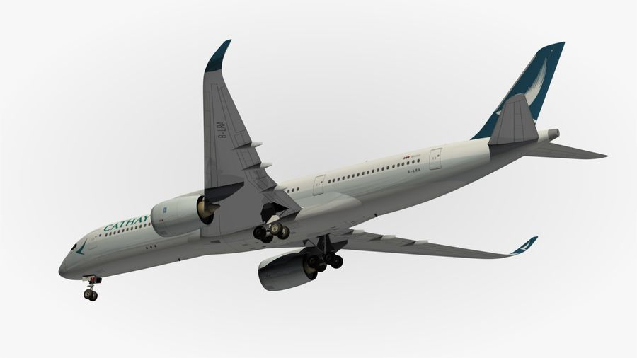 Airbus A350 Cathay Pacific royalty-free 3d model - Preview no. 13