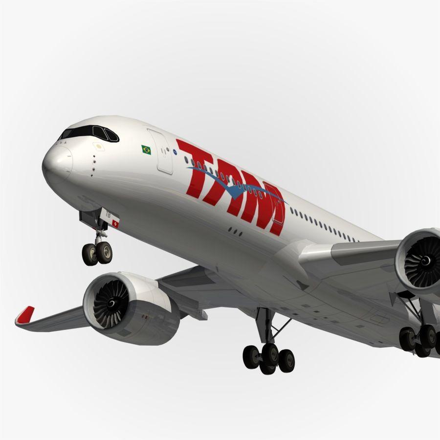空中客车A350 TAM royalty-free 3d model - Preview no. 1