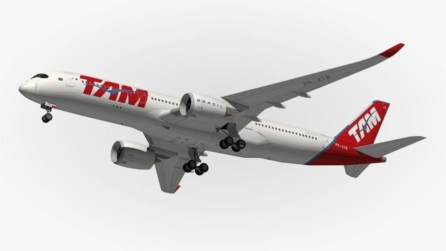 空中客车A350 TAM royalty-free 3d model - Preview no. 12
