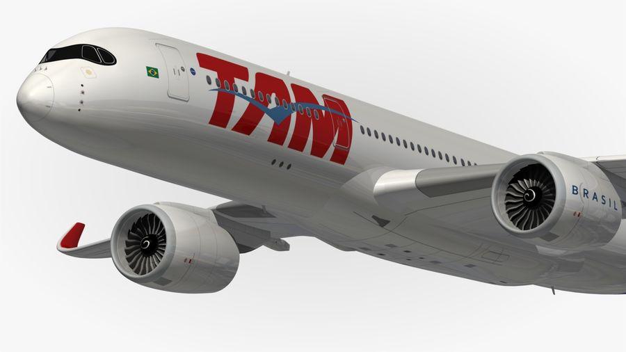 空中客车A350 TAM royalty-free 3d model - Preview no. 3