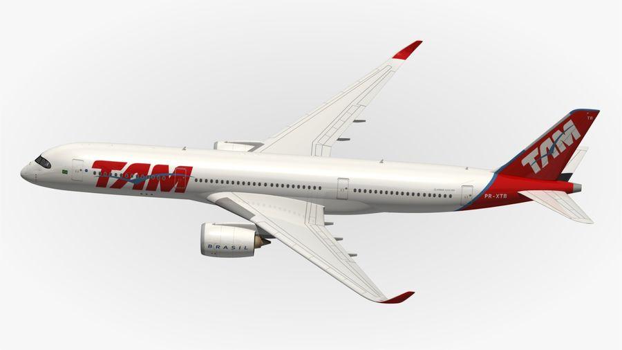 空中客车A350 TAM royalty-free 3d model - Preview no. 6