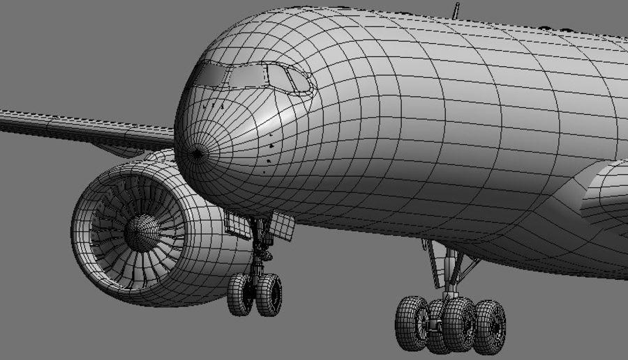 空中客车A350 TAM royalty-free 3d model - Preview no. 17