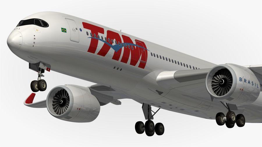 空中客车A350 TAM royalty-free 3d model - Preview no. 2