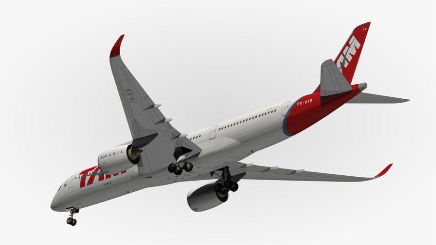 空中客车A350 TAM royalty-free 3d model - Preview no. 13