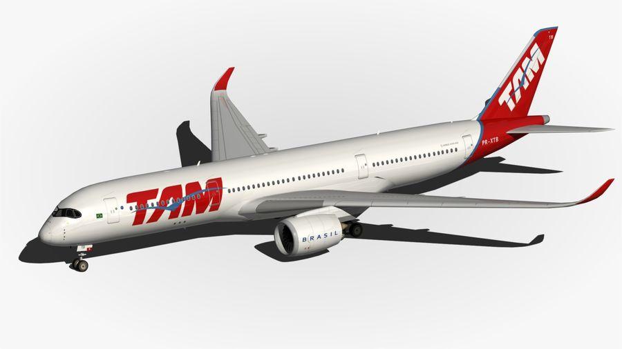 空中客车A350 TAM royalty-free 3d model - Preview no. 7