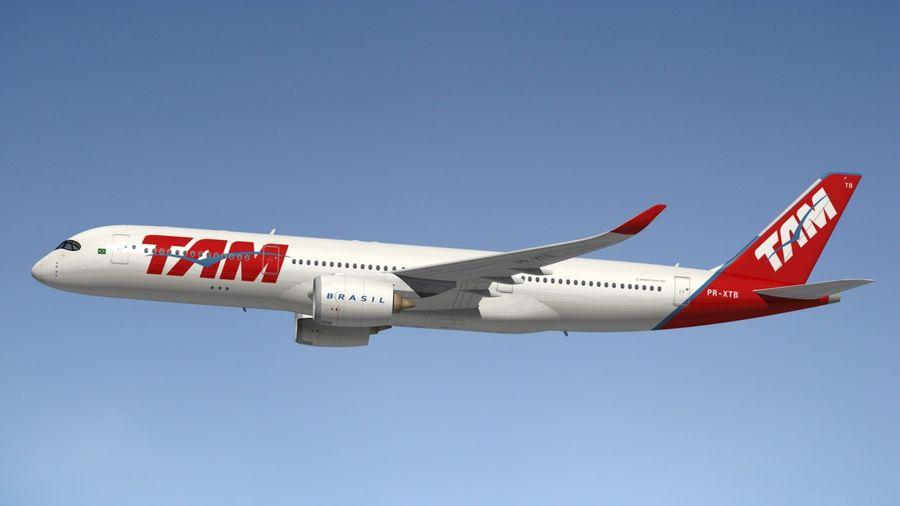 空中客车A350 TAM royalty-free 3d model - Preview no. 4