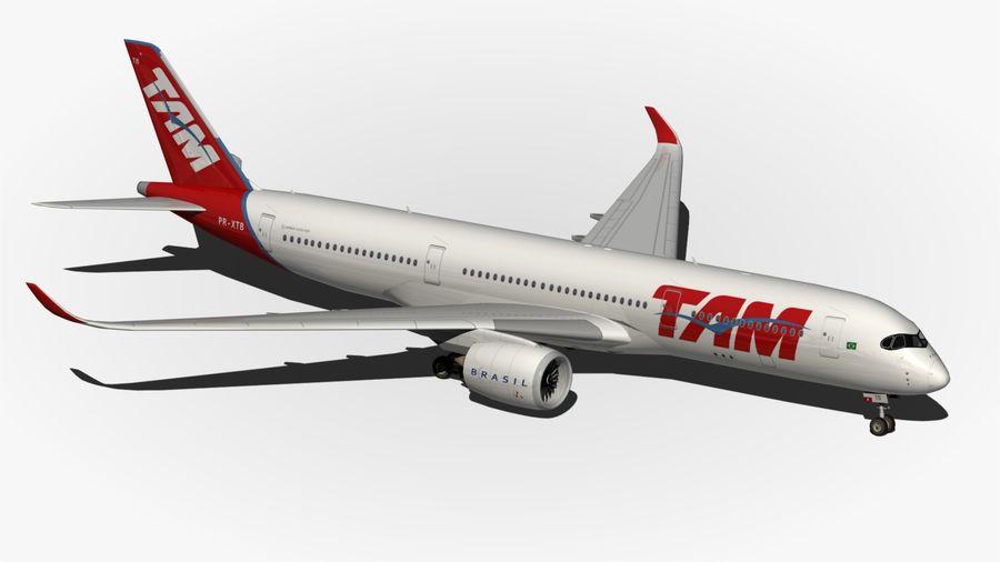空中客车A350 TAM royalty-free 3d model - Preview no. 10