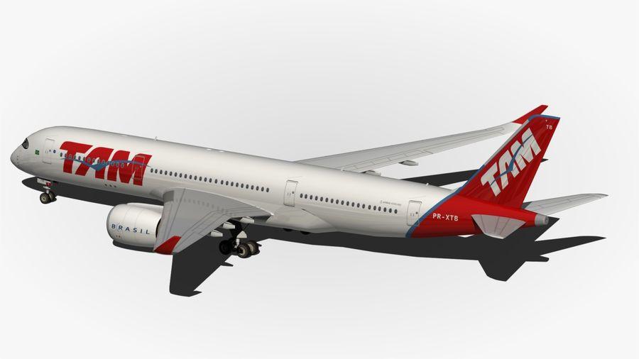 空中客车A350 TAM royalty-free 3d model - Preview no. 8