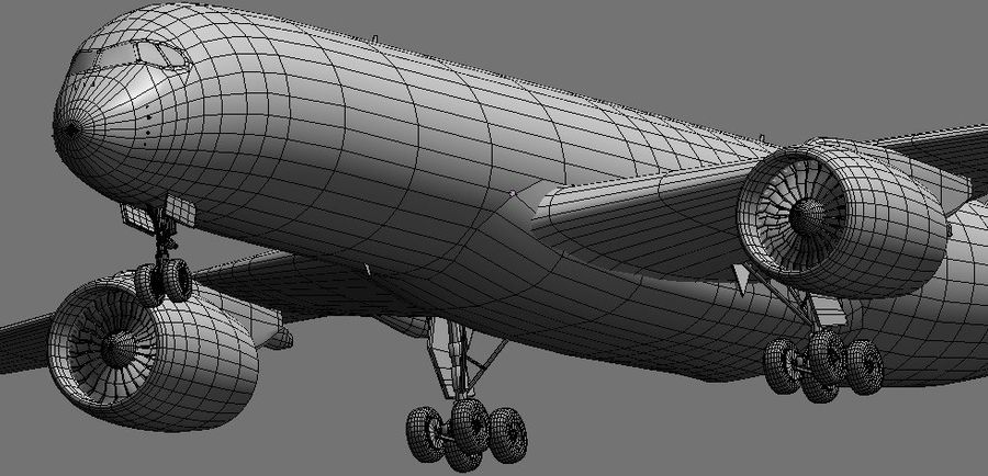 Airbus A350 Ethiopian royalty-free 3d model - Preview no. 19