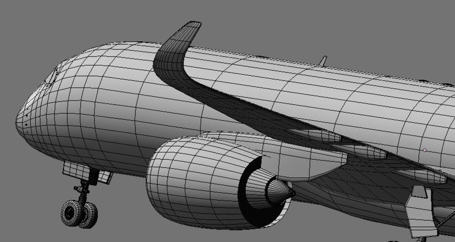 Airbus A350 Ethiopian royalty-free 3d model - Preview no. 20