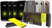 LG G5 SD / SIM 트레이 및 배터리가 포함 된 모든 색상 3d model