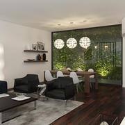 Modern Living Room & Kitchen 3d model