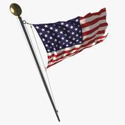 Animerad slingflagga 3d model