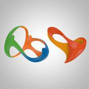 Rio Logo 2016 3d model
