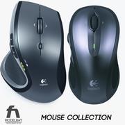 罗技无线鼠标系列 3d model