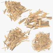 Коллекция расколотого дерева 3d model