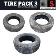 Tire  Pack 3 3d model